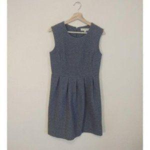 Loft Grey Quilted Sleeveless Dress